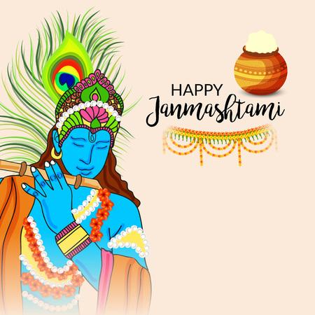 Happy Janmashtami. Stock Vector - 106605854