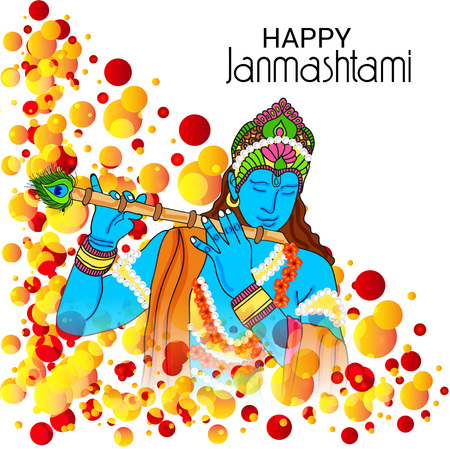 Happy Janmashtami. Stock Vector - 106605856