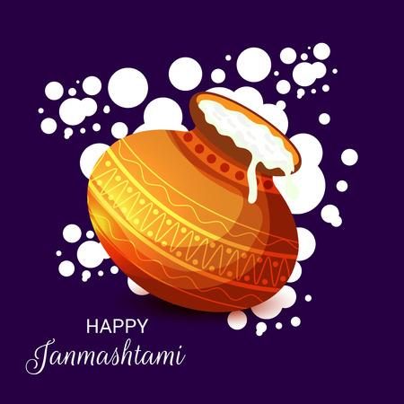 Happy Janmashtami. Stock Vector - 107028353