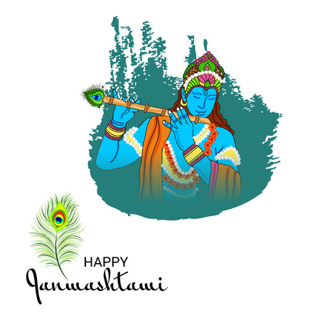 Happy Janmashtami. Stock Vector - 107028355