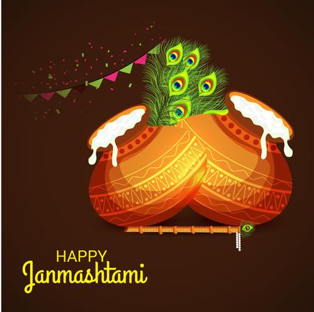 Happy Janmashtami. Stock Vector - 107028404