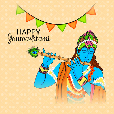 Happy Janmashtami. Stock Vector - 107028407