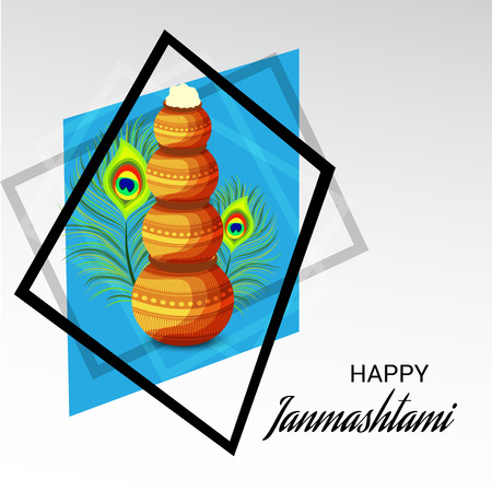 Happy Janmashtami. Stock Vector - 107028471