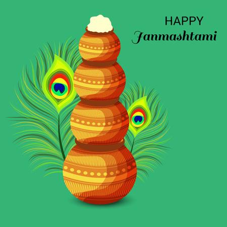 Happy Janmashtami. Stock Vector - 107028573