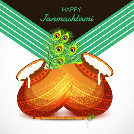 Happy Janmashtami. Stock Vector - 107028579