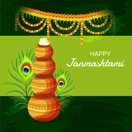 Happy Janmashtami. Stock Vector - 107028585