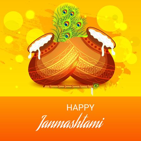 Happy Janmashtami. Stock Vector - 107028590