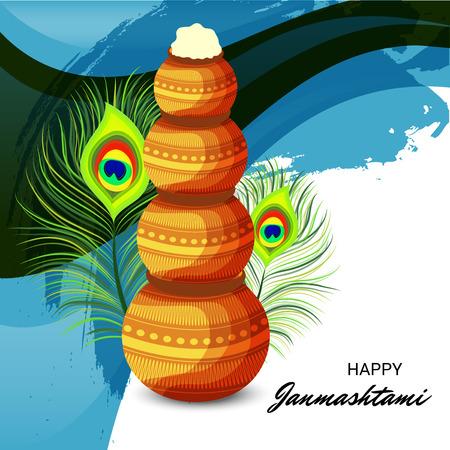 Happy Janmashtami. Stock Vector - 107028591