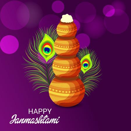 Happy Janmashtami. Stock Vector - 107028652
