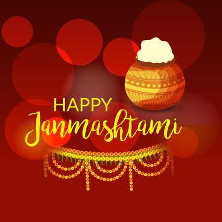 Happy Janmashtami. Stock Vector - 107028655