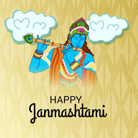 Happy Janmashtami. Stock Vector - 107028657