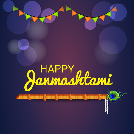 Happy Janmashtami. Stock Vector - 107028659