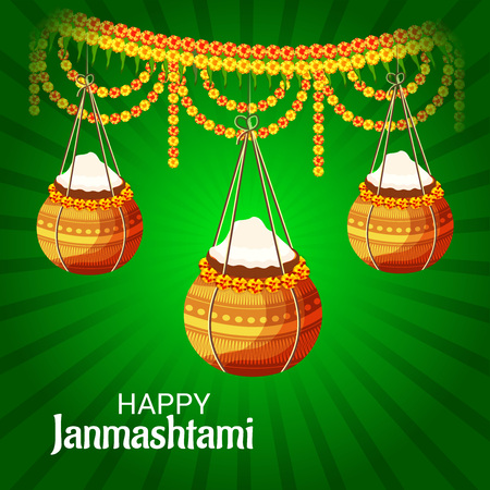 Happy Janmashtami. Stock Vector - 107028661