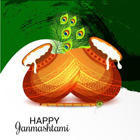 Happy Janmashtami. Stock Vector - 107028812