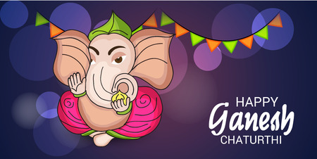 Ganesh Chaturthi Celebration. Vectores