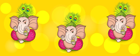 Ganesh Chaturthi Celebration. Illustration
