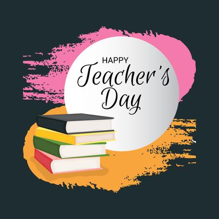 Happy Teacher's Day. Standard-Bild - 107466037