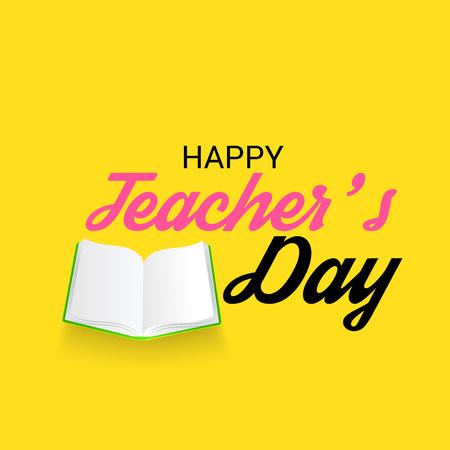 Glücklicher Lehrertag. Vektorgrafik