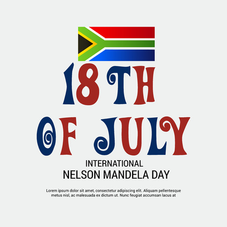 International Nelson Mandela Day. Иллюстрация