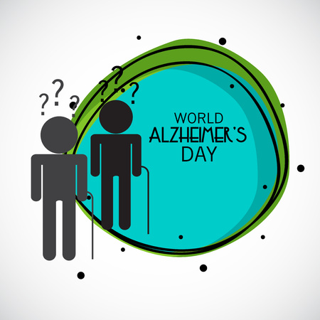 World Alzheimer's Day. Vector Illustratie