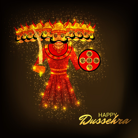 Happy Dussehra. Illustration