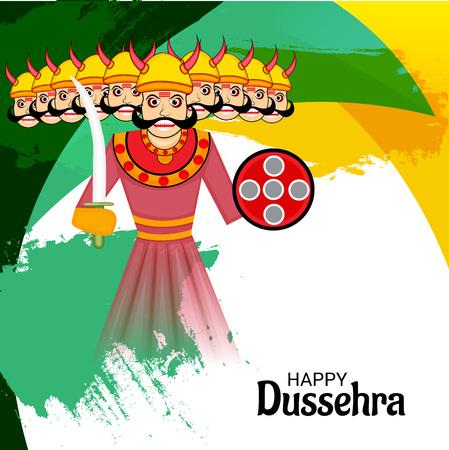 Happy Dussehra. Illustration