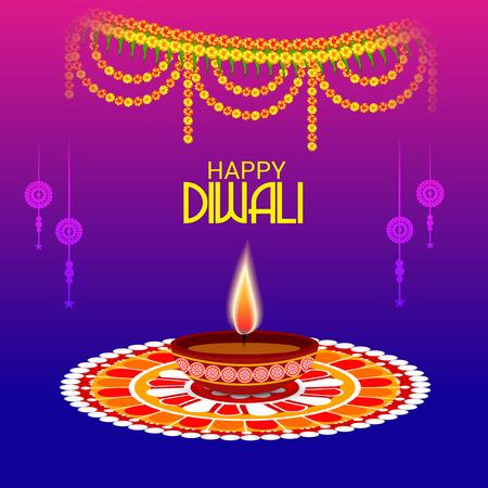 Happy Diwali. Vector Illustration