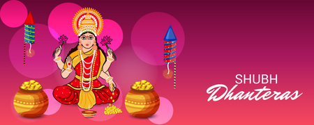 Creative Banner or  Poster for Indian Light Festival of Diwali Celebration. 일러스트