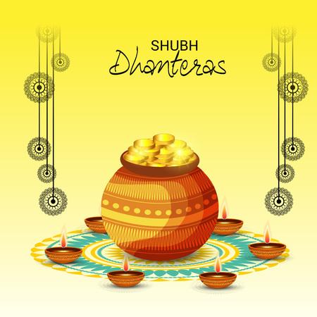 Creative Banner or  Poster for Indian Light Festival of Diwali Celebration. Illustration