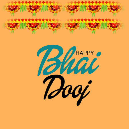 Vector illustration of a Background for indian festival of Happy Bhai Dooj Celebration. 일러스트