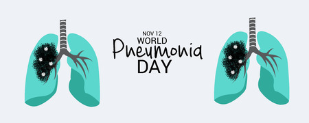 Vector illustration of a Banner for World Pneumonia Day. Vettoriali