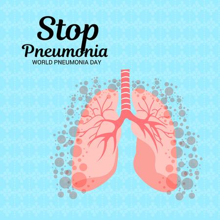 Vector illustration of a Banner for World Pneumonia Day. Illustration
