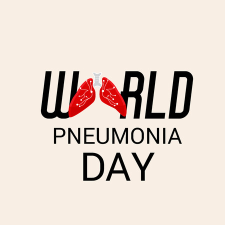 Vector illustration of a Banner for World Pneumonia Day. Illustration