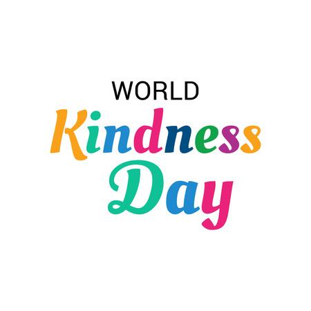 Illustration vectorielle d'une bannière pour la Journée mondiale de la gentillesse.