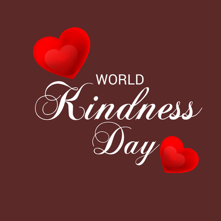 Vector illustration of a Banner for World Kindness Day. Stok Fotoğraf - 112238786