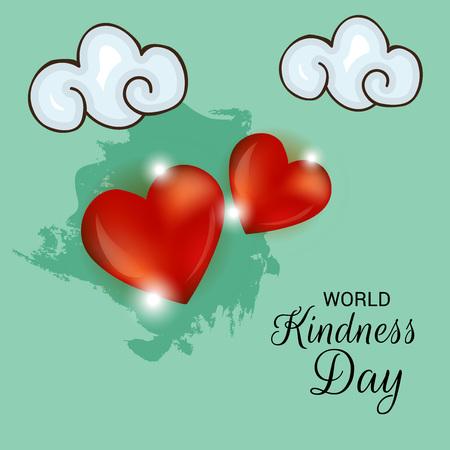 Illustration vectorielle d'une bannière pour la Journée mondiale de la gentillesse. Vecteurs