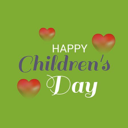 Happy Children's Day. Vector Illustration