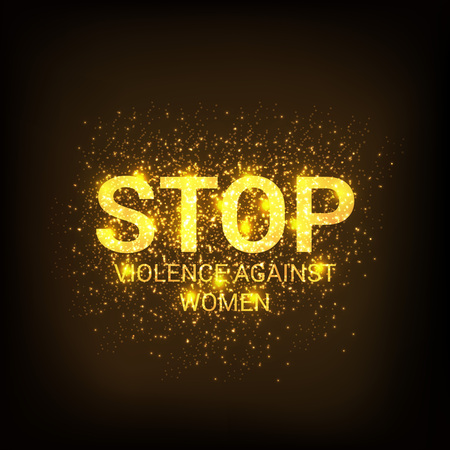 Stop Violence Against Women Concept Background.
