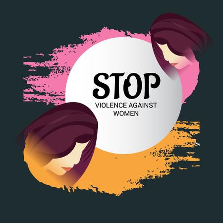 Stop Violence Against Women Concept Background.