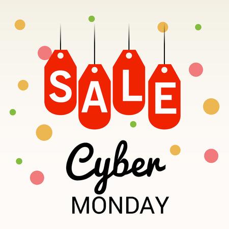 Cyber Monday Sale. Illustration