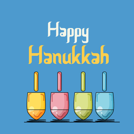 Vector illustration of a Background for Happy Hanukkah.