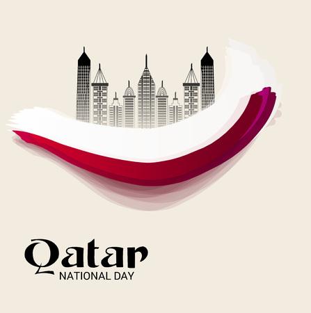 Qatar National Day. Illustration
