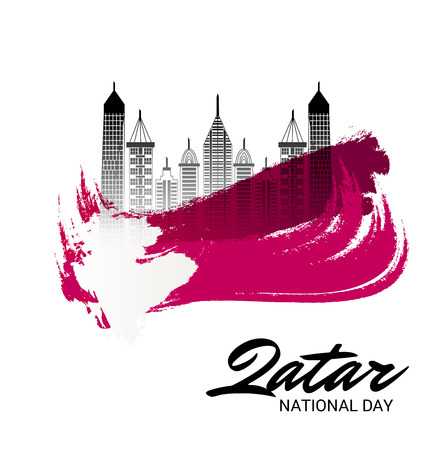 Nationalfeiertag von Katar. Vektorgrafik