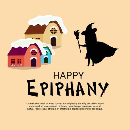 Happy Epiphany. Illustration