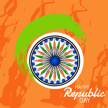 Indian Republic day concept.