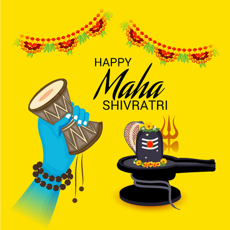Vector illustration of a background for Happy Shivratri. Ilustrace