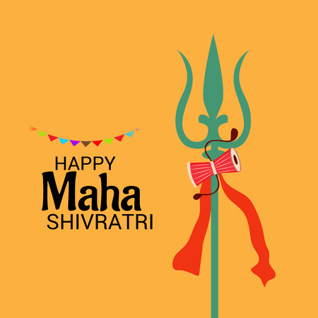 Vector illustration of a background for Happy Shivratri. Illustration