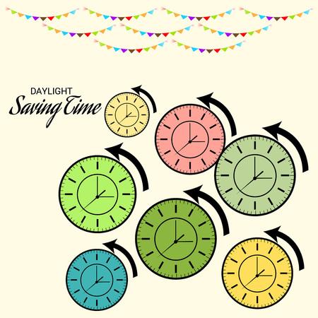 Daylight Saving Time(Spring Forward). Illustration