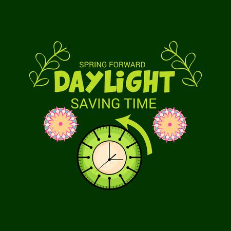 Daylight Saving Time(Spring Forward). Ilustração