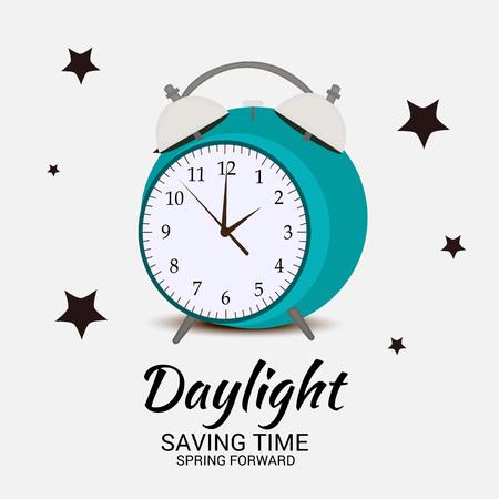 Daylight Saving Time(Spring Forward). Ilustração Vetorial